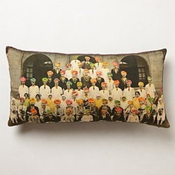 "Anthropologie - Maharaja Men Pillow - Side zipCotton, cotton velvet; polyfillDry cleanShort: 18"" squareLong: 12"" x 24""Imported"