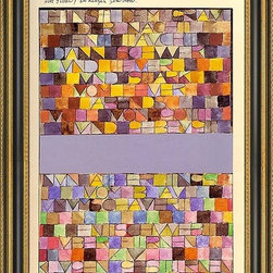 """Art MegaMart - Paul Klee Once Emerged Gray Night - 16"""" x 24"""" Paul Klee Once Emerged from the Gray of Night framed premium canvas print reproduced to meet museum quality standards. Our Museum quality canvas prints are produced using high-precision print technology for a more accurate reproduction printed on high quality canvas with fade-resistant, archival inks. Our progressive business model allows us to offer works of art to you at the best wholesale pricing, significantly less than art gallery prices, affordable to all. This artwork is hand stretched onto wooden stretcher bars, then mounted into our 3 3/4"""" wide gold finish frame with black panel by one of our expert framers. Our framed canvas print comes with hardware, ready to hang on your wall.  We present a comprehensive collection of exceptional canvas art reproductions by Paul Klee."""
