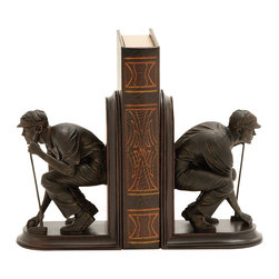 Unique and Stylish Golf Themed Bookends - Description: