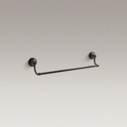 """KOHLER - KOHLER Bancroft(R) 18"""" towel bar - Bancroft accessories capture the elegance of early 1900s American design with their traditional and enduring style. This 18-inch towel bar provides a sleek location for your towels while lending a classic touch to the bath or powder room."""