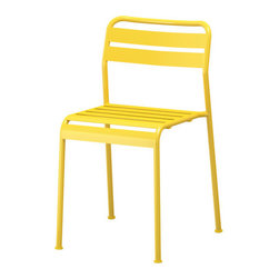 ROXÖ Chair, Yellow - Simple, great pop of color and user friendly — what's not to like?