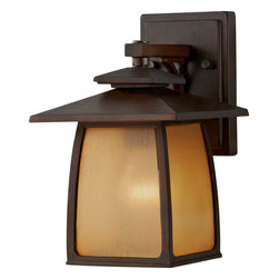 Murray Feiss - Murray Feiss Wright House Transitional Outdoor Wall Sconce X-RBS0058LO - This Murray Feiss Wright House Transitional Outdoor Wall Sconce has its design roots in Mission style. The sorrel brown finish houses a striated ivory shade has a warm elegance that will make this outdoor wall light a stylish addition to the the exterior of a home. Mission style lights inspired by the Prairie School are just as stylish today.