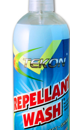 Tekon Protective Coatings - Repellant Wash® is a unique water based cleaning and co-polymeric formula, that is odorless, entirely safe and environmentally friendly.  It penetrates dirt, grime, bacteria, oil and environmental contaminants and lifts them from the surface with the use of a microfiber Tek Towel.  With the dirt and grime barrier gone the co-polymers are free to bond to the surface and protect it from water, dust, oil, dirt, grease, grime, soap scum and other surface damaging contaminants that cause spotting, corrosion, oxidation and staining.