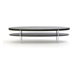 Bensen - Munro Oval Coffee Table - The Hollywood series of tables are all about the legs. Munro tables combine a wood top with simple & precise metal legs. The Oval family expands this series with a new elegant form.