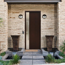 "Modern Front Entry Door - ""Milano"" - stainless steel modern entry door."