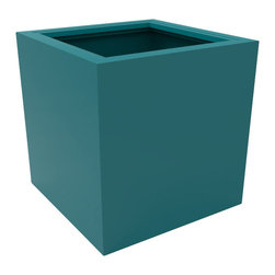 Decorpro - Medium Athens Planter, Teal - The Athens planter is versatile in that it can be used in a variety of settings. From modern houses to traditional spaces, the simple shape of this planter ensures that it will always look good.