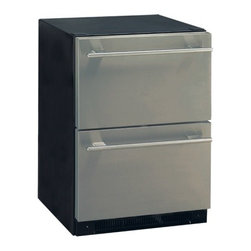 Haier - DD400RS 5.4 cu. ft. Built-in Under Counter Dual Drawer Refrigerator With Sabbath - The DDXX0R built-in under counter dual drawer refrigerator features 54 cu ft overall capacity two refrigeration drawers and electronic temperature controls The easy to clean touch control panel allows for simple temperature adjustment while the top-d...