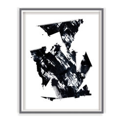 Black And White 5 Modern Art Print - BLACK AND WHITE 5 modern art print abstract picture poster wall art contemporary for home, office or business wall decor part of a set of 8