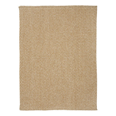 Worthington rug in Jute - This rug is a heavy flat woven construction of solution-dyed polypropylene with a Bouclé texture, creating a terrific up-to-date design. Made in today's most natural colors, this rug is sure to fit with any décor.