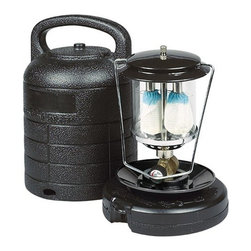 Kay Home Products - Hard Case Double Mantle Lantern Kit - Century Double Mantle Lantern offers you a portable way to light your path. Matchlite ignition. Perfect for emergency lighting situations. Lantern is fully adjustable from bright to dim. Includes glass globe quick-clip mantles. Quiet, soot-free and non-flickering. Durable, weather-resistant construction . This lantern has a porcelain dome for durability. With ultra quiet operation and regulated for superior cold weather performance, you can't miss with this lantern. Our base accepts both 16.4 ounce propane cylinders (not included).Features: