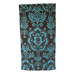 Towels & Bath Rugs - Fresco Towels & Bath Mats Cocoa Brown & Turquoise.  J Brulee Home, Tucson, Arizona.  www.jbrulee.com