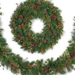 Verona Fir Christmas Wreath & Garland - THE ELEGANCE OF NATURE IN OUR VERONA FIR CHRISTMAS WREATH AND GARLAND