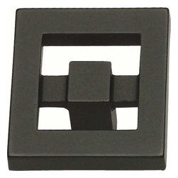 Atlas Homewares - Atlas Homewares 260-Bl Nobu 1 3/8-Inch Square Door Knob, Black - Atlas Homewares 260-Bl Nobu 1 3/8-Inch Square Door Knob, Black