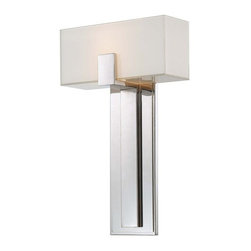 George Kovacs - P1704-613 Decorative 1 Light Wall Sconces Polished Nickel W/ Mitered/Itered/Whit - Product
