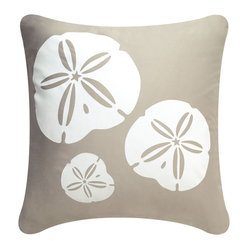 Sand Dollar Eco Pillow, Shell White/Seagrass, Without Insert