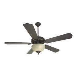 "Craftmade - Craftmade CDU202OB-CFL Oiled Bronze Custom Blade Options Ceiling Fan - CD Unipack 202 Contractor s Fan with Integrated Bowl Light Kit The CD Unipack 202 is versatile, durable and features a Tea-Stained light kit. Features  Standard 153 x 12, 3 Speed Reversible Motor Blade Sweep Options: 42"" and 52"" Two Downrods Supplied, 2"" and 4"" 30 Year Limited Warranty Five Custom Blades matched to exact weight - sold separately, see below Universal Remote Adaptable - Optional Tea-Stained Glass Bowl Kit - Requires 2 60w CFL Bulbs or Incandescent Additional Blade Selections in 42"" Size Available  Popular combinations (see Product Multimedia):   Aged Bronze Motor with 52"" Contractor s Design Walnut Blades and Bowl Kit European bronze Motor with 52"" Contractor s Design Washed Walnut Birch Blades and Bowl Kit Brownstone Motor with 52"" Contractor s Design Washed Walnut Birch Blades and Bowl Light Kit Rustic Iron Motor with 52"" Contractor s Design Walnut Blades and Bowl Light Kit  Customize your fan:  Blade options: Works with Type 5 Blades Light kit options: Bowl Light Kit Included  Measurements (see Product Multimedia for accompanying line art)  A. Ceiling to Bottom of Light Kit with 2"" Downrod: 15.0"" A. Ceiling to Bottom of Light Kit with 4"" Downrod: 17.5"" B. Ceiling to Fan Blades 2"" Downrod: 8.5"" B. Ceiling to Fan Blades 4"" Downrod: 10.0"" C. Fan Width: 11.0"" D. Canopy Width: 5.125"" E. Motor Housing Height: 3.5"""