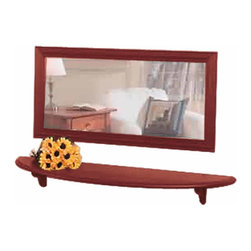 Renovators Supply - Shelves Raleigh Red Pine Shelf 43 3/4 W x 10 3/4'' Proj - Shelf. This semi-circle white shelf supported by two brackets. Made of solid pine it measures 43 3/4 in. W x 10 3/4 in. proj.