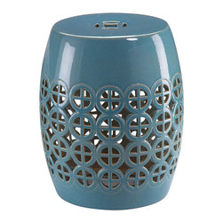 Zodax - Zodax Cut-Out Garden Stool - Zodax - Garden Stools - VT1137 - Perfect for gardens of any size get ready to transform your precious garden with Zodax Cut-Out Garden Stool. Gorgeous color combined with modern design this stool will never disappoint.