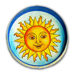 Paper Scissors Rock - Sun Knob - Our decorative knobs are exclusively available on Houzz.com. They will brighten up any cabinet, drawer or piece of furniture. Each one starts with an original watercolor by artist Pamela Corwin, which is reproduced and encased in a durable and easy to clean acrylic. Standard 8-32 screw included.