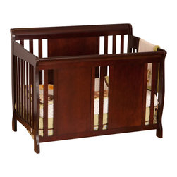 Stork Craft - Stork Craft Verona Fixed Side 4-in-1 Convertible Crib in Cherry - Stork Craft - Cribs - 04587484 - The charming Verona 4 in 1 Fixed Side Convertible Crib by Stork Craft surrounds your little sweetie in comfort and style! All four sides are stationary and include an adjustable mattress support base to accommodate your babies growth.  The Verona is a smart investment as it converts from a standard crib to a toddler bed to a daybed and finally into a full-size bed complete with headboard and footboard (full size bed rails not included).  It has a well built construction made of solid wood and wood products offered in a selection of non toxic durable finishes. Complete your nursery look by adding an assortment of matching accessories: a changing table chest dresser or glider and ottoman by Stork Craft.