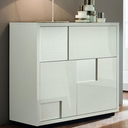 Rossetto Furniture - Nightfly White Bar Buffet - 413302434168BBF - Made in Italy