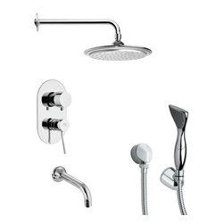 Remer - Contemporary Round Tub and Shower Faucet with Hand Shower - Single function tub and shower faucet.