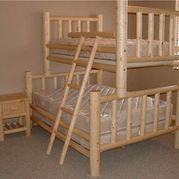 Rustic Furniture Creations - Classic Rustic Lodge Bunk Bed - As classic as they come, the Classic Rustic lodge bunk bed fits countless styles and decors. Each log is hand selected and strategically placed for balance of beauty and character. The result is a one of a kind furniture piece that is never duplicated.