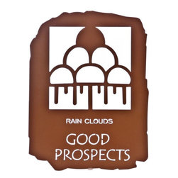 Lazart - Good Prospects 12-inch Southwest Rain Tablet Metal Wall Art - Opportunity  abounds  in  this  southwest  metal  wall  art  with  a  Native  American  petroglyph  tablet  style.  Even  as  rain  offers  the  promise  of  good  crops  ahead,  the  rain  cloud  symbol  in  this  southwest  metal  wall  art  promises  opportunity  ahead.  Precision  cut  by  laser  from  cold-rolled  steel,  this  southwest  metal  wall  art  is  finished  in  a  rich  copper  metallic  finish.  The  finish  color  is  bonded  to  the  steel  through  a  special  heat  transfer  process  for  durability  and  long  life.            See  more  southwestern  metal  art                  Finish  is  rich  copper  metallic  heat  transfer  finish              Wonderful  addition  to  any  Southwest  decor
