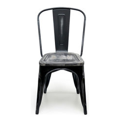 Aeon Furniture - Wooden Chair in Black - Set of 2 - Set of 2. Includes hardware and assembly instructions. Rust resistant zinc coating. Inspired by the post WW1 industrial design. Warranty: One year limited. Made from wood. Antique black finish. No assembly required. 18 in. W x 17.5 in. D x 33 in. H (15 lbs.)Suitable for residential as well as commercial markets.