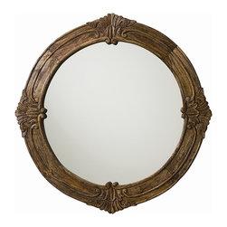Arteriors - Arteriors 4110 Heaton Mirror - Arteriors 4110 Heaton Mirror made with Sandblast Antique Wax Wood/Plain Mirror.