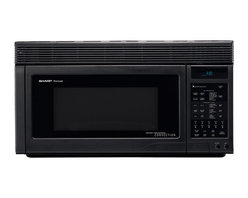 Sharp - 1.1 CF, 850 Watt, Convection Sensor OTR, Interactive; Black - 850-watt over the range convection microwave oven with 1.1 cu. ft. capacity|13 inch ceramic turntable with on/off option|7-digit, interactive, 2 color display|25 automatic settings|CompuBroil, CompuRoast, CompuBake automatically compute broiling, roasting, and baking times/temperature settings|Built-in exhaust systems comes with hood light and fan|Smart and Easy sensor settings determine times and power levels|High rack included for two-level baking|Low rack may be used for baking, roasting or broiling|Temperature control 100��, 150��, 275 - 450��F in 25�� increments|  sharp| r1875t| r-1875t| r 1875t| microwave| oven| over the range| 1.1 cu. ft.| 850w| 850 watt| turntable| ceramic| lcd display  Package Contents: black microwave|turntable|hardware|manual|warranty  This item cannot be shipped to APO/FPO addresses  Sharp will no longer take back any Sharp product as a DOA.� This includes, TV, A/V Products, and any Sharp Appliances.� Please call Sharp at 1-800-BESHARP for service details.� We will not be able to accept DOA returns on this item.� Please accept our apologies.