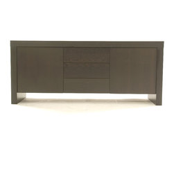 Tema Home - Kobe 2 Doors-3 Drawers Sideboard - What has two doors, three drawers and storage space to spare? This sophisticated sideboard in wenge color, that's what. Tuck away your dishes and table linens and transform your dining space into a paragon of elegant organization.