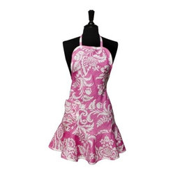 Cypress Home Felicia Apron, Pink - Who can resist an adorable apron in pink and white? You could whip up all sorts of good food wearing this beauty.