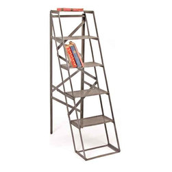 Factory Ladder - This tall standing factory ladder comes from our vintage furniture collection. It has a cool and simple look and can add a touch of a vintage look to your home.