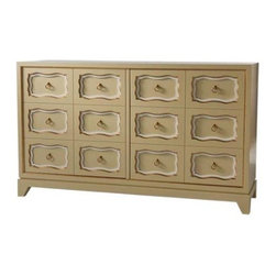 Dorothy Door Chest - This classic chest uses a classic Dorothy Draper design and makes a wonderful console, buffet or dresser.