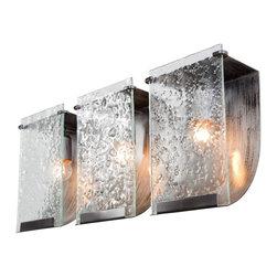 Varaluz - Varaluz 160B03 Rain Rainy Night 3 Light Bathroom Wall Sconce - Crafted Hand Forged Eco-Friendly Recycled Steel