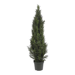 Nearly Natural - Mini 5-foot Indoor/ Outdoor Cedar Pine Tree - Add a natural look to your home decor with a silk plantDecorative accessory measures a healthy 5 feet tallDeck the halls with a lovely mini cedar pine tree