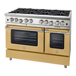 BlueStar Platinum Series: 750+ Colors and Finishes - 	All gas range.
