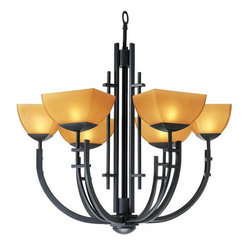 Access Lighting 26126-ABRZ/AMB Six Light Bronze Up Chandelier