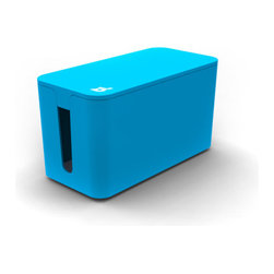 Pool Blue Small Cable Box - Make it way nicer under your desk.