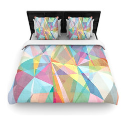 "Kess InHouse - Mareike Boehmer ""Graphic 32"" Rainbow Abstract Fleece Duvet Cover (King, 104"" x 8 - You can curate your bedroom and turn your down comforter, UP! You're about to dream and WAKE in color with this uber stylish focal point of your bedroom with this duvet cover! Crafted at the click of your mouse, this duvet cover is not only personal and inspiring but super soft. Created out of microfiber material that is delectable, our duvets are ultra comfortable and beyond soft. Get up on the right side of the bed, or the left, this duvet cover will look good from every angle."
