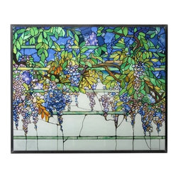 Summit - Tiffany Wisteria Stained Glass - This gorgeous Tiffany Wisteria Stained Glass has the finest details and highest quality you will find anywhere! Tiffany Wisteria Stained Glass is truly remarkable.