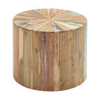 Lovely and natural Reclaimed Wood Side Table - Description: