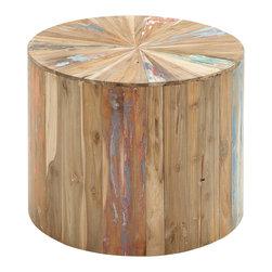 Reclaimed Wood Side Table - Description: