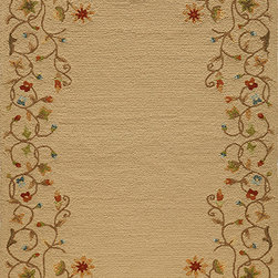 Momeni Rug - Momeni Rug Veranda 8' x 10' VR-28 Beige VERANVR-28BGE80A0 - Veranda is an outstanding collection of outdoor rugs. Hand hooked, these rugs are UV and mildew resistant and feature an EZ Care system that allows them to be hosed down for simple, thorough cleaning. In a broad variety of traditional and transitional designs and featuring a vast array of color choices, the Veranda Collection is perfect for the patio or deck.