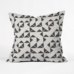 Zig and Zag Pillow Cover - Get lost in the triangular maze that makes up the Zig and Zag Pillow Cover. Place a few of these on your sofa and watch as your living room comes to life.