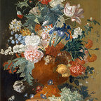 Flowers in a Terracotta Vase | Huysum | Canvas Print - Condition: Canvas Print - Unframed