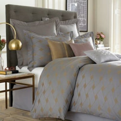 Wamsutta - Wamsutta Tatami Duvet Cover - The Tatami duvet cover by Wamsutta features a modern basket weave pattern on rich, yarn-dyed cotton that gives it an elegant, yet contemporary aesthetic.