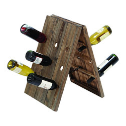 Benzara - Rustic Collapsible Wine Rack Stand With 18 Slots - Add a unique rack of wine to your decor that fits perfectly with any style. A wine rack, built with to stand hold 18 bottles of wine simultaneously. A perfect wine rack to keep in the kitchen, or fold it away when not in use. If wine is what you enjoy there is no reason not to keep a bottle nearby, just in case.