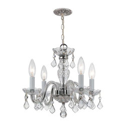 Crystorama Lighting - Crystorama Lighting 1064-CH-CL-MWP Traditional Crystal Mini Chandelier - Crystorama Lighting 1064-CH-CL-MWP Traditional Crystal Traditional Mini Chandelier in Polished Chrome with Clear Hand Cut Crystal